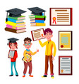 student academic qualification certificate vector image
