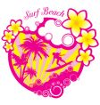 surf beach vector image