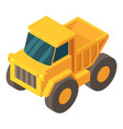 truck icon isometric 3d style vector image vector image