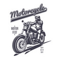 vintage moto fest logotype template vector image vector image