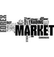 what is forex market text word cloud concept vector image vector image