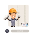 Worker Dub Wall Joints vector image vector image