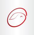 easter egg with rabbit symbol design vector image