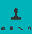 stamp icon flat vector image