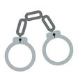 chain handcuffs icon vector image
