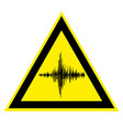sign of high noise and acoustic vibration vector image