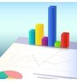 Financial charts and graphs vector image