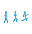 people running walking symbol vector image