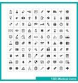 100 medical icons vector image vector image