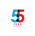 55 year anniversary template design vector image vector image