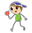 A little boy with lollipop vector image vector image