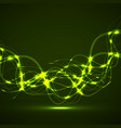 abstract glowing wavy lines curved stripes vector image