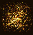 abstract golden shining dust glitter texture vector image vector image