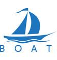 abstract sail ship icon design template vector image vector image