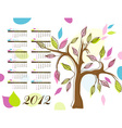 abstract tree calendar 2012 vector image