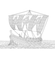 Ancient greek galley vector image