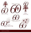 Anniversary 60th signs collection vector image