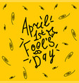 april happy fool s day funny humor vector image
