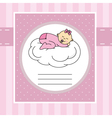 Baby sleeping on a cloud vector image
