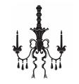 Baroque Elegant ornamented wall lamp vector image vector image