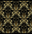 baroque gold embroidery style 3d seamless patter vector image vector image