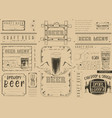 beer placemat vector image vector image
