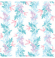 blue pink tropical leaves summer vertical vector image vector image