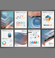 brochure template with charts and graphs vector image vector image