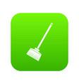 broom icon digital green vector image vector image