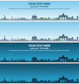 brussels skyline event banner vector image