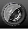 Camera Lens Icon vector image vector image