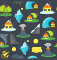 cartoon natural disaster background pattern vector image vector image