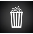 Cinema popcorn icon vector image vector image