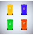 Colored waste bins with the lid closed vector image