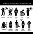 diabetes mellitus diabetic high blood sugar vector image vector image