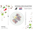 dutch cuisine european national dish collection vector image vector image