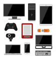 Electronic gadgets icons technology electronics