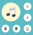 flat icons quaver lyre audio box and other vector image vector image