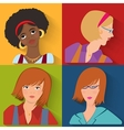 Flat people avatar beauty spa employees vector image vector image