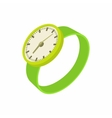 Green wrist watch icon cartoon style vector image vector image