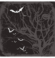 halloween themed background vector image vector image