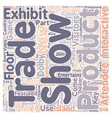 Hands On Trade Show Exhibits Lure Attendees text vector image vector image