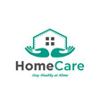 home care logo design inspiration vector image