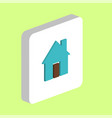 house computer symbol vector image vector image