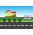 House for sell vector image