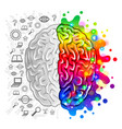 human brain concept logic and creative vector image vector image