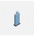 isolated skyscraper isometric business center vector image vector image
