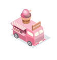 isometric food trucks vector image vector image