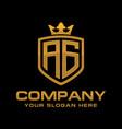 letter ag initial logo luxury logo design