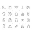 line man clothing icons vector image